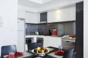 Kuchyňka ve studentském apartmánu, Gold Coast Austrálie