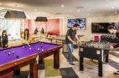 Společné prostory v ubytování, kde mohou studenti angličtiny trávit volný čas, Browns Brisbane Austrálie