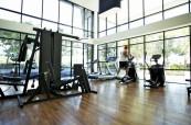 Ke studentskému apartmánu patří fitness centrum s výhledem, Gold Coast Austrálie