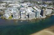 Letecký pohled na jazykovou školu Lexis v Sunshine Coast a její okolí