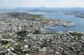 Pohled na město Hobart v Tasmánii, jazyková škola SACE Hobart Austrálie