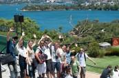 Studenti během výletu a poznávání krás Sydney City/Bondi