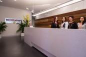 Recepce jazykové školy Browns v Brisbane, Austrálie