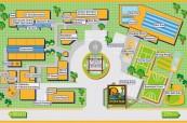 Mapa areálu školy, kde studenti mají vše, co ke svému studiu potřebují, Sun Pacific College, Cairns Austrálie