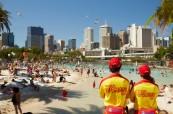 Městská pláž Streets Beach v Brisbane, Lexis Brisbane Austrálie