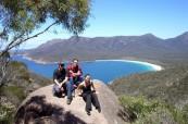 Studenti angličtiny na odpoledním výletu po okolí Hobartu v Tasmánii, SACE Hobart Austrálie