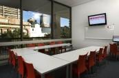 Učebna jazykové školy na škole Browns v Brisbane, Austrálie