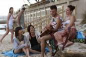Studenti během volného času na pláži, Access Language Center, Sydney, Austrálie
