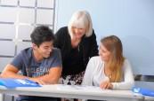 Studenti angličtiny během výuky, SELC Bondi, Austrálie